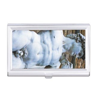 Florence Statue of David With Love Quote Business Card Case
