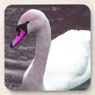 Florence The Pink Swan Beverage Coasters