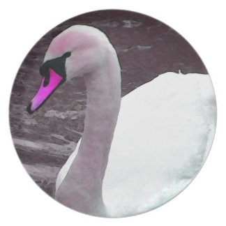 Florence the Pink Swan Plate