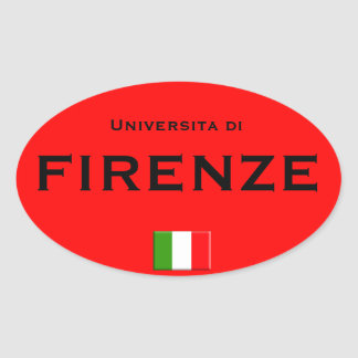 Florence University Euro-style Oval Sticker