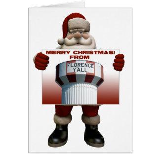 Florence Y'all Santa Christmas Card