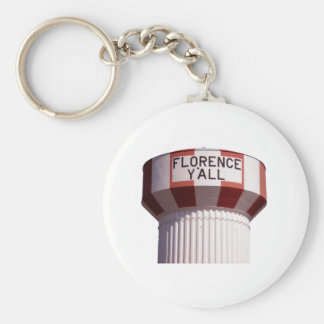 Florence Y'all Water Tower Key Ring