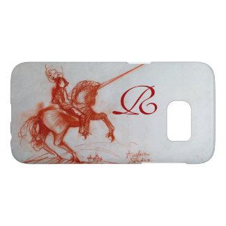 FLORENTINE  KNIGHT ON HORSEBACK Sepia Monogram