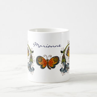 Florentine Renaissance Butterfly Personal Mug