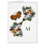 Florentine Renaissance Floral Monogram Note Card