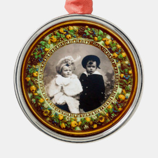 FLORENTINE  RENAISSANCE FRUITS Photo Template Christmas Ornament