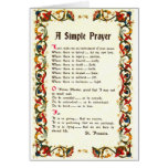 Florentine Simple Prayer=St. Francis=Pope Francis Greeting Card