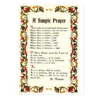 Florentine Simple Prayer=St. Francis=Pope Francis Postcard
