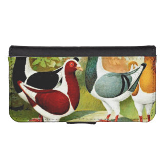 Florentiner Pigeons iPhone SE/5/5s Wallet Case