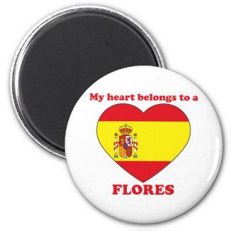 Flores 6 Cm Round Magnet