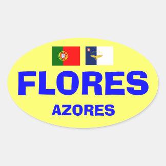 Flores* Azores European-style Oval Sticker