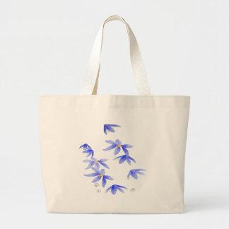 Flores Azules Bolsa De Mano