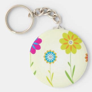 flores basic round button key ring