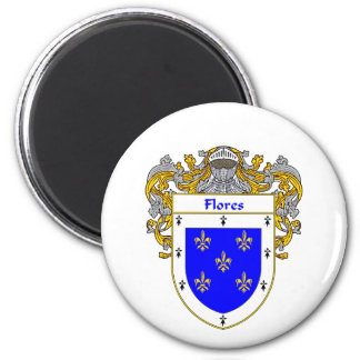 Flores Coat of Arms Mantled Magnet