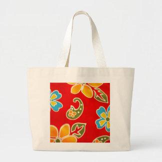 flores em azul e amarelo bolsa para compras