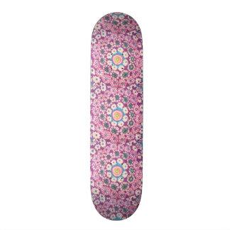 flores em circulo varias cores skate