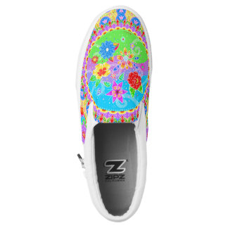 Flores en el Viento ~ Slip On Sneakers