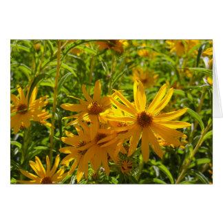 """Flores en mi hierbas """" flowers in my weeds """" card"""