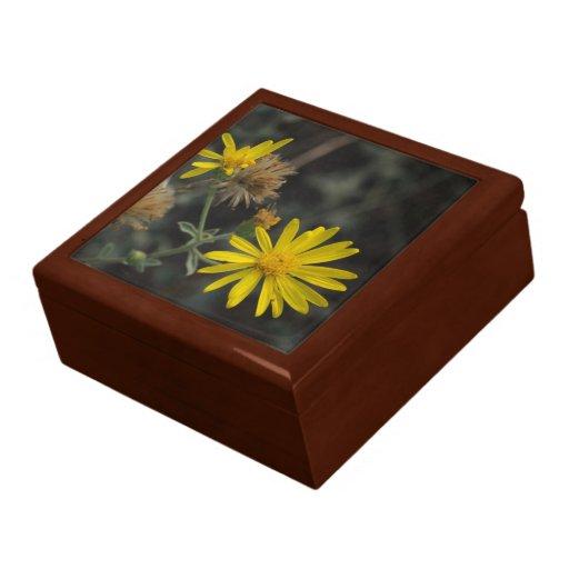 """Flores en mi hierbas """"Flowers in my Weeds"""" Keepsake Box"""