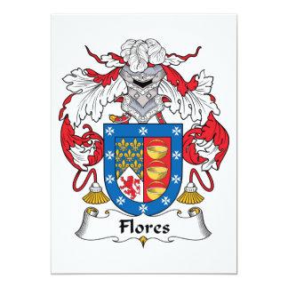 "Flores Family Crest 5"" X 7"" Invitation Card"