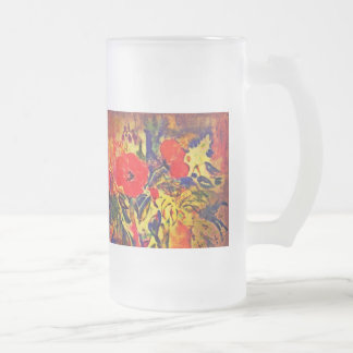 Flores Frosted Glass Mug