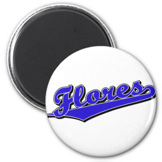 Flores in Blue 6 Cm Round Magnet