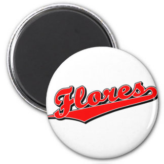 Flores in Red 6 Cm Round Magnet