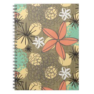 Flores-Linen Spiral Note Book