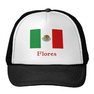 Flores Mexican Flag Mesh Hats