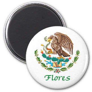 Flores Mexican National Seal 6 Cm Round Magnet