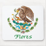 Flores Mexican National Seal Mouse Pads
