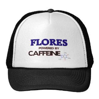 Flores powered by caffeine trucker hats