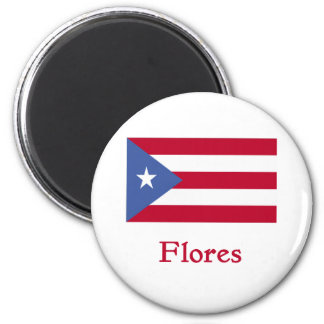 Flores Puerto Rican Flag Magnet