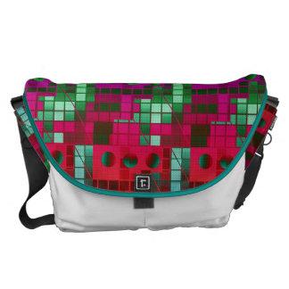 Florescent Abstract Cubes Commuter Bag