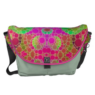 Florescent Abstract Courier Bag