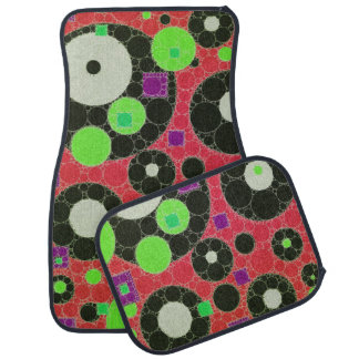 Florescent Abstract Texture Shapes Car Mat