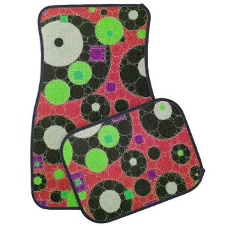 Florescent Abstract Texture Shapes Floor Mat