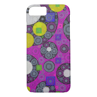 Florescent Abstract Texture Shapes iPhone 7 Case