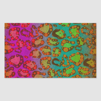 Florescent Animal Print Stickers