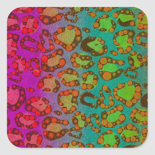Florescent Animal Print Stickers