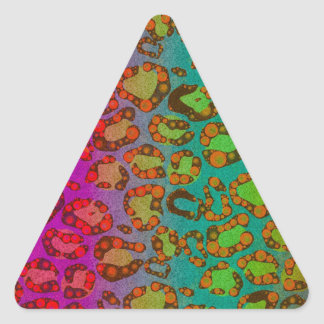 Florescent Animal Print Triangle Sticker