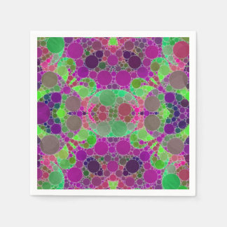 Florescent Beautiful Abstract Disposable Serviettes