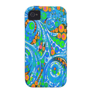 Florescent Blue Green Abstract Case For The iPhone 4