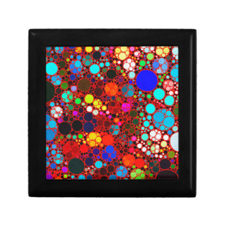 Florescent Bold Abstract Pattern Bling Keepsake Boxes