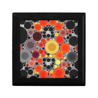 Florescent Bold Abstract Pattern Trinket Box