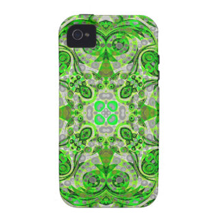Florescent Green Grey Abstract Vibe iPhone 4 Case