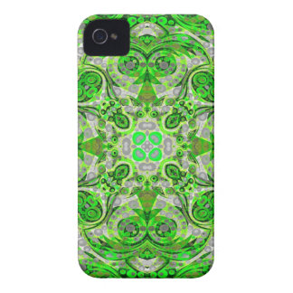 Florescent Green Grey Abstract Case-Mate iPhone 4 Case