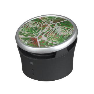 Florescent Green Red Tiger Bluetooth Speaker