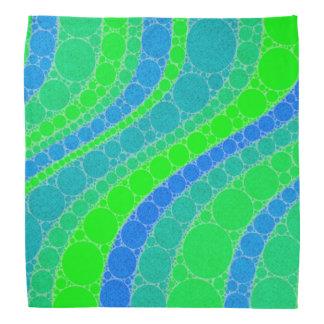 Florescent Green Retro Abstract Bandana