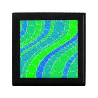 Florescent Green Retro Abstract Small Square Gift Box